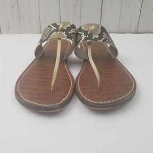 bbf360ce084e Sam Edelman Shoes - ⬇35 SAM EDELMAN Gus Snakeskin Slip on Sandals 9